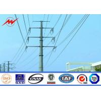 China Round Tapered Galvanised Steel Power Transmission Poles / Electrical Power Pole on sale