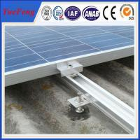 China Factory price, roof/ tile roof solar mounting structure, AL rail,glazed tile, clamps on sale
