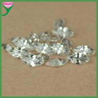 Best Wholesale price AAA 4*8mm white marquise shape loose cubic zirconia gemstone wholesale