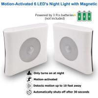 Best ABS Plastic LED Sensor Night Light Motion Activated High Performance For Bedroom Toilet wholesale