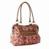 China 2012 Flower Canvas Handbag/Hot Sell Canvas Ladies Handbag/Tote Bag/Women's Handbag, 0.70kg Weight on sale