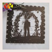 China Lovely Laser Cut  Wedding Invitation Card Printing Traditional Square on sale