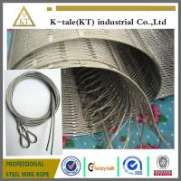 Best 304 Hand-woven Stainless Steel Wire Rope Mesh for stair frames wholesale
