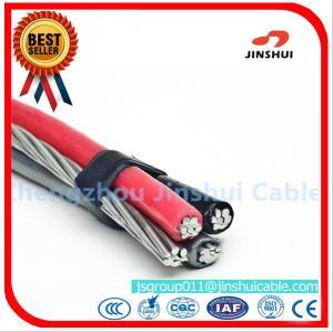 Best Overhead Power Transmission Triplex Service Drop Cable / Aluminum Triplex Wire wholesale