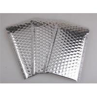 Best Aluminum Foil Metallic Bubble Mailers Silver Color Self Sealing For Postal Packaging wholesale