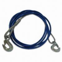 Buy cheap Heavy-Duty 12' Emergency Tow Cable with Safety Hooks - 3/8, with PVC Jacket, from wholesalers