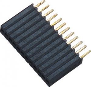 Best 1*12P H=8.5 Female Header Connector Connector 1.27 Mm Pitch Phosphor Bronze wholesale