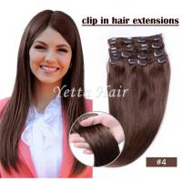 Best Brazilian pre bonded remy human hair extensions / Clipped in Hair Extensions wholesale
