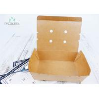 Best Venting Paper Takeaway Boxes With Degassing Holes For Hot Take Out Food wholesale