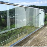 China Frameless Building Railing Powder Coating Surface Treatment For Exterior Balcony on sale