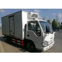 China ISUZU 2 Tons Ice Box Truck , Refrigerated Cold Room Truck For Frozen Fish Transportation on sale