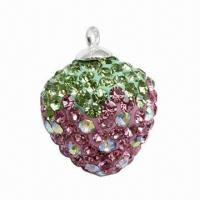 Best Fashionable Pendant with Crystal Strawberry Charm wholesale