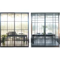 China Partition Aluminum Sliding Doors For Living Room, Durable Laminated Glass Room Divider on sale