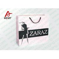 Best Pretty Custom Paper Shopping Bags With LOGO And Black PP Rope wholesale