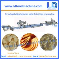 Best Screw/shell/chips/extruded pellet frying food process line manufacturer wholesale