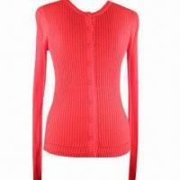 Best Women's cardigan with round neck and long sleeves wholesale