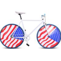 China Flag fixed road single bicycles on sale