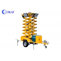 China Diesel Generator Mobile Light Tower Auto Lifting Portable LED Light Tower on sale