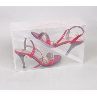 China best quality plastic clear shoe boxes PVC material  wholesale in szie 30*18*10cm on sale