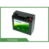 Best Black Color UPS Rechargeable Batteries 12V 24Ah 2 Years Warranty ISO9001 wholesale