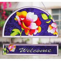 China Personalized stained glass sun catcher Decorative Garden Stakes yard decorations on sale