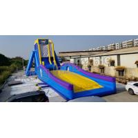 Best Crazing Fun Inflatable Fly Water Slide For Adults Blue And Yellow Color wholesale