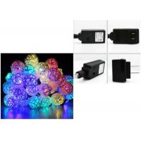 Best 110 Voltage Multi Colored Christmas Lights 6 Meter 30 Leds White / Red / Pink wholesale