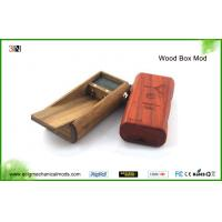 China Red / Brown Wood Box 18650 Mechanical Mod 510 thread With Dual Battery wholesale