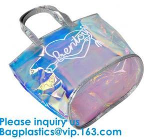 Best Holographic Makeup Bag Iridescent Cosmetic Bag Hologram Clutch Large Toiletries Pouch Holographic Makeup Pouch  Bag wholesale