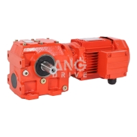 China Three Single Phase AC Gearmotor Right Angle Gear box Worm Helical Gearbox with Motor on sale