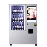 China 22 inch Interactive Touch Screen Electronic Vending Machine for Beverage champagne sparkling wine beer spirit on sale