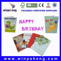 China happy birthday cards on sale