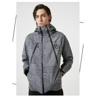 China Men's High Quality Waterproof PVC Coating Windbreaker Jacket with Printed in Spring on sale