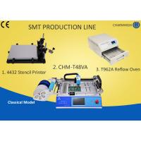Buy cheap PCB Pick And Place Machine chmt48va Solder Paste Stencil printer Machine T962a Reflow Oven from wholesalers