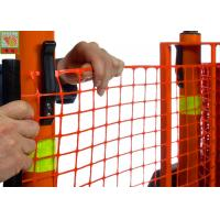 Best Strong Orange Plastic Construction Fence , Warning Barrier Fence PE Material wholesale