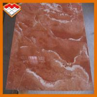 China Customized Size Orange Red Marble Stone Tile Exterior Wall Cladding Use on sale