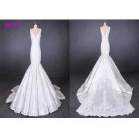 Best Fish Tail Ladies Wedding Dress Long Tail Satin Lace Mermaid Style Wedding Dress wholesale