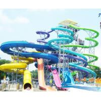 Best Large - scale 1200 Riders Amusement Park Water Slides Combination For Water Park Resorts wholesale