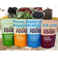 Buy cheap Foil Zip Lock Stand Up Food Pouches Bags With Notch For Food Storage,Hologram from wholesalers