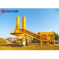 Best PLD1200 Two Bins Mobile Concrete Batching Plant Stable With Screw Conveyor wholesale
