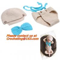 China Prop Eggs Handmade Infant Baby Knit Costume Crochet Hat Baby Accessories Sleeping Bag on sale
