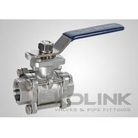 Best 3-piece Stainless Steel Ball Valve ISO5211 Pad Locking Device NPT BSPT SW End wholesale