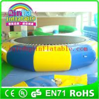 Best wholesale swimming pool trampoline inflatable water jumping bed inflatable water bouncer wholesale