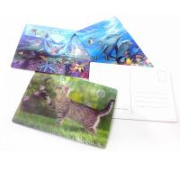 China Fashion Plastic 3D lenticular postcards for gifts on sale