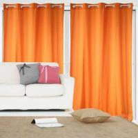 Best 100% Polyester Brushed Fabric Window Curtains with 8 Grommets or 8 Loops wholesale