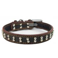 China 2012 wholesale real leather collar,pet collars on sale