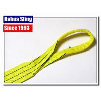 China Heavy Duty Polyester Lifting Slings Crane Lifting Straps For Cargo / Crane on sale