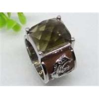 Best Emerald handmade jewelry Semi Precious Stone Stainless Steel  Rings  with gold Plating wholesale