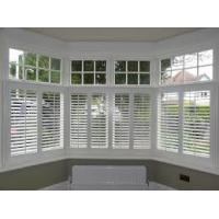 China Cafe Style Hidden Tilt Rod Clearview Pvc Plantation Shutters For Bathroom Outdoor Patio Window on sale