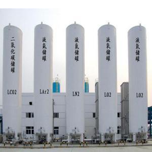 Best White Vertical Pressure Vessel Tank for Transport  LPG / Propane / Nitrogen wholesale